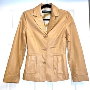 Vintage Style Kenneth Cole Real Leather Coat